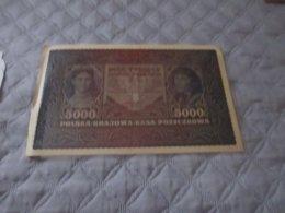 Billet POLOGNE 5000 Marek - Polonia