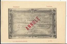Argent De Nécessité - Noodgeld - Commune De .... Gemeente ....VERVIERS - Monete (rappresentazioni)