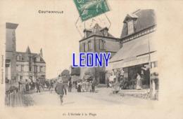 CPA De COUTAINVILLE   (50) -  L'ARRIVEE à La PLAGE  N° 21 - CARTE PRECURSEUR - Autres Communes