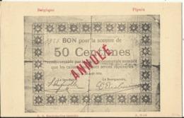 Argent De Nécessité - Noodgeld - Commune De .... Gemeente ....PIPAIX (Leuze) - Monete (rappresentazioni)