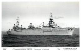 MARINE DE GUERRE - Commandant Teste Transport D'avions (photo Marius). - Guerra