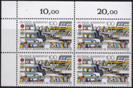 "BRD, 1991 Nr. 1554 **,  Viererblock Mit Eckrand Oben Links, ""Verkehrssicherheit"" - [7] République Fédérale"