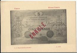 Argent De Nécessité - Arrondissement De Mines D'Anzin (Nord) Charbonnage - Monete (rappresentazioni)