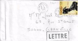 TP N°3309  Seul Sur Enveloppe De La Fouillouse - Poststempel (Briefe)