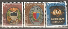 Switzerland: Pro Patria, 3 Used Stamps From A Set, Post Signs, 1981, Mi#1200-1202 - Pro Patria