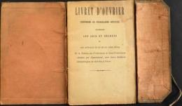 FR. - LIVRET D'OUVRIER BIJOUTIER Loi Du 22.6.1854 - Mairie De St-Martin-de-Valamas (Ardéche) Daté 15 Mars 1901 - En BE - Historische Documenten