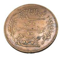 10 Centimes - Tunisie - Bronze - 1916 A - TB + - Tunesië
