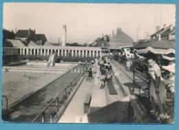 CAUDRY - La Piscine - Photo Véritable Circulé 1958 - Caudry