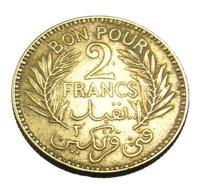 Bon Pour 2 Francs  - Tunisie - Bronze Alu  - 1941 - TTB - Tunesië