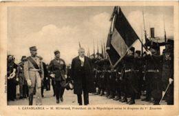 CPA AK CASABLANCA . Millerand Salur Le Drapeau POLITICS (981865) - Events