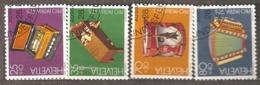 Switzerland: Pro Patria, Full Set Of 5 Used Stamps, Folk Musical Instruments, 1985, Mi#1296-1300 - Pro Patria