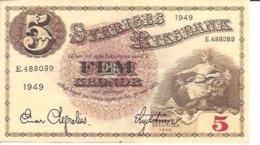 Sweden 5 Kronor 1949 - Svezia