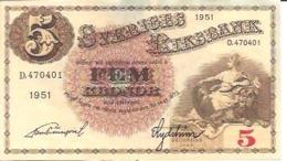 Sweden 5 Kronor 1951 - Svezia