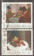 Switzerland: Pro Patria, 2 Used Stamps From A Set, Painting, 1986, Mi#1319-1320 - Pro Patria