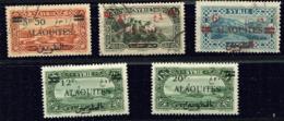 Alaouites  Ob  N° 35 - 37 à 40 - Oblitérés