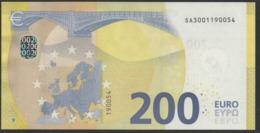 "ITALIA € 200 SA S002 ""00""  DRAGHI   UNC - EURO"