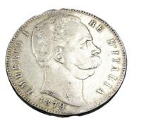 5 Lires - Italie - Umberto I - 1879 - Argent - TB + - - 1861-1946 : Kingdom