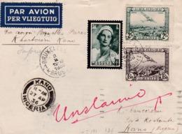 Lettre Bruxelles Vers Kano ( Nigéria ) 1936 - Poste Aérienne