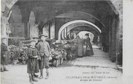 VILLEFRANCHE DE ROUERGUE ( Aveyron ) : Les  Arcades Du Consulat Animées - Villefranche De Rouergue