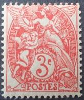 DF50478/688 - 1900 - TYPE BLANC - N°109g (IA) Rouge NEUF* - 1900-29 Blanc