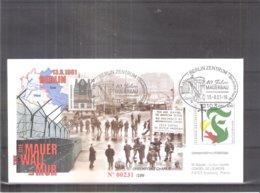 Enveloppe Conseil De L'Europe Strasbourg - Check Point Charlie - Berlin 1961 (à Voir) - Brieven En Documenten