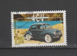 """FRANCE / 2000 / Y&T N° 3319 : """"Voitures Anciennes"""" (Renault 4 CV) - Oblitération De 200. SUPERBE ! - Oblitérés"""