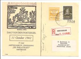 1943 European PTT Associaton FDC Registered NVPH 404 15.1.43 - FDC