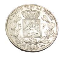 5 Francs -  Belgique - Argent - 1868 - TTB + - - 1865-1909: Leopoldo II