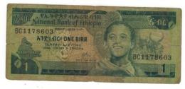 Ethiopia 1 Birr, P-30a. VG. - Ethiopië