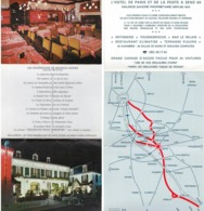 Img389 Sens Dépliant Flyer Publicitaire Hôtel De Paris Et De La Poste - Dépliants Turistici