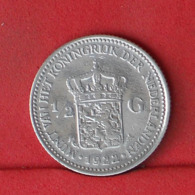 NETHERLANDS 1/2 GULDEN 1922 - *SILVER*   KM# 160 - (Nº32112) - 1/2 Gulden