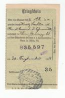 Erlagschein, Money Transfer Receipt Postmarked 1904 B191101 - Briefe U. Dokumente