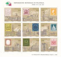 ITALIE 1985 TIMBRES SUR TIMBRES ITALIA 85 V Yvert  BF 1 NEUF** MNH - 6. 1946-.. Republik