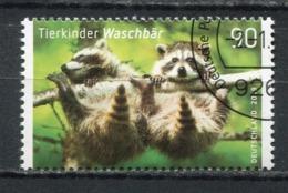 """Germany,Allemagne  2019 Michel .Nr .3434 """"Tierkinder-Waschbären   """" 1 Wert Used - Nager"""