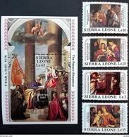 # Sierra Leone 1987**Mi.1066-70 Christmas , MNH [21;44] - Religieux