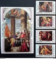 # Sierra Leone 1987**Mi.1066-70 Christmas , MNH [21;44] - Religion