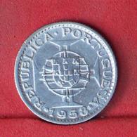 TIMOR 3 ESCUDOS 1958 - *SILVER*   KM# 14 - (Nº32126) - Portugal