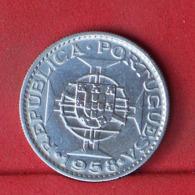 TIMOR 6 ESCUDOS 1958 - *SILVER*   KM# 15 - (Nº32127) - Portugal