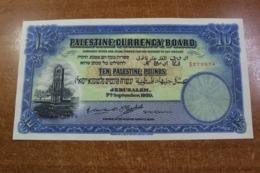 Palestine 10 Pound 1939 COPY - Banconote