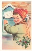 Poste Lettre Courrier Illustration Illustrateur Cpa Enfant Postant Sa Lettre Edit MD Paris - Poste & Facteurs