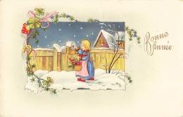 Poste Lettre Courrier Illustration Illustrateur Cpa Enfant Postant Sa Lettre Cachet 1955 - Poste & Facteurs