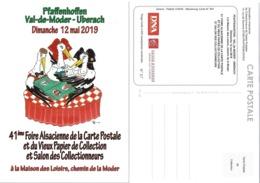 LOT 287 CARTE POSTALE  41° FOIRE C/P ET SALON COLLECTIONNEUR PFAFFENHOFFEN VAL DE MODER MAI 2019 - Borse E Saloni Del Collezionismo