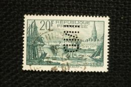 Perfin 20fr St Malo N°394 Perforé Lochung IND - Francia