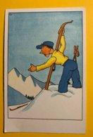 9038  -   Ski, Perte D'un Ski Signé Ejo - Illustrators & Photographers