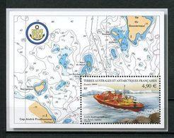 TAAF 2004 Bloc N° 10 ** ( N° 394 )  Neuf MNH Superbe C 19,60 € Bateaux Canot Levées Hydrographiques Boats Transports - Blokken & Velletjes