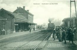 Ekeren - Eeckeren - Aankomst Van Den Trein - Gare - Train - Hoelen 4209 - 1909 - Antwerpen