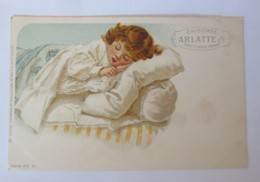 Reklame, Chicoree Arlatte, Kinder, Bett,   1900 ♥ (49488) - Enfants