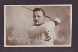 CPA Boxe Française Canne BETANT Signature Autographe Carte Photo RPPC écrite Par Lui - Pugilato