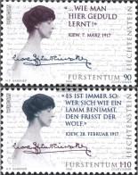 Liechtenstein 1124-1125 (complete Issue) Unmounted Mint / Never Hinged 1996 Famous Women - Liechtenstein