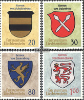 Liechtenstein 450-453 (complete Issue) Unmounted Mint / Never Hinged 1965 Crest - Liechtenstein
